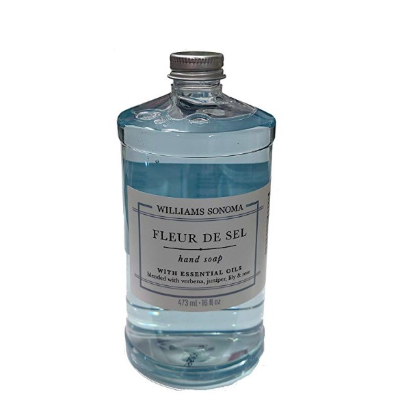 Williams-Sonoma Hand Soap – Blended with Essential Oils – MADE IN USA – No Parabens – Ammonia, phosphate, and Chlorine Free – Never tested on Animals (Fleur de Sel)