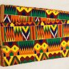 African Wax 6 yards Kente design fabric real African traditional print .  Ankanra 100% cotton material.