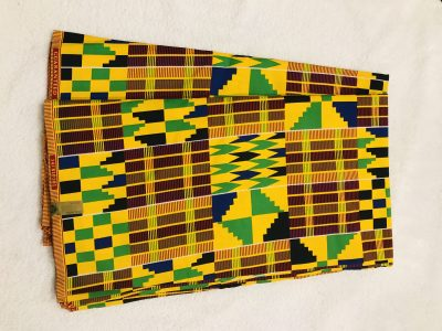 African Wax 6 yards Kente design fabric real African traditional print. Ankanra 100% cotton material.