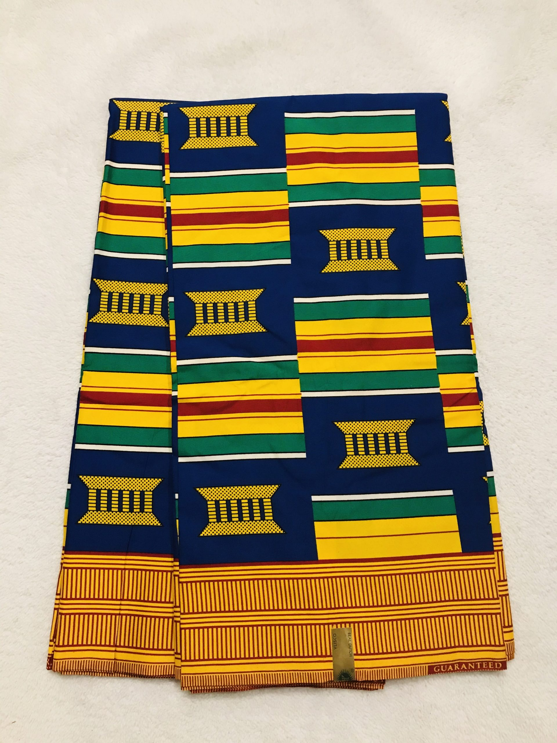 African Wax 6 yards Royal seats design fabric real African traditional print.  Ankanra 100% cotton material.