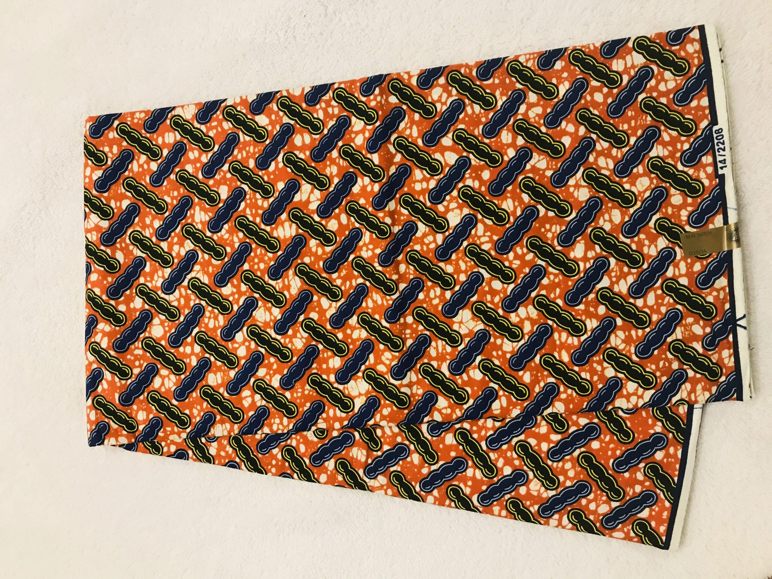 African Wax 6 yards peanut design real African print. Ankanra 100% cotton material.