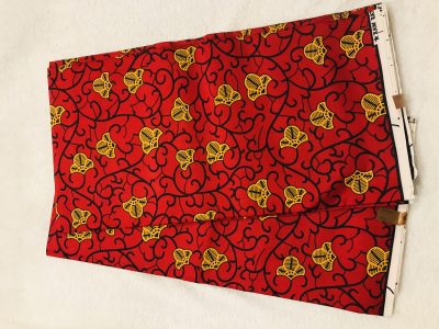 African Wax. 6 yards red and yellow design African print Ankanra 100% cotton material.